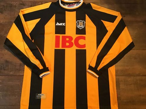 1999 2000 Hull City L/s Home Football Shirt Large XL